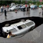 韓国の道路陥没がやばすぎる!衝撃動画&画像まとめ!原因は工事ミス?